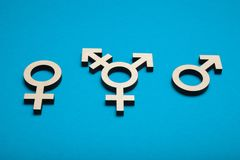 Concept de fond d'art de transsexuel Orientation de genre, tolérance sexuelle photographie stock libre de droits