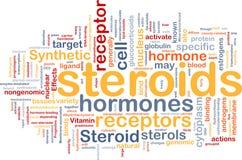 Concept de fond d'hormones de stéroïdes Photos libres de droits