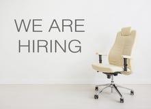 Concept de fond de chaise - entrevue de location de location de recrutement Photos libres de droits