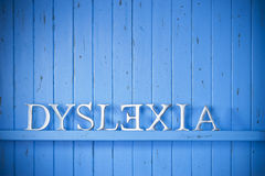 Concept de fond de dyslexie Photo libre de droits