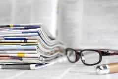Concept de fond de journaux et de magazines Images stock