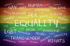 Concept de fond de nuage de Word d'égalité photo libre de droits