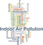 Concept de fond de pollution atmosphérique intérieure Photos stock