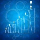 Concept de fond de travail d'équipe d'affaires Image stock
