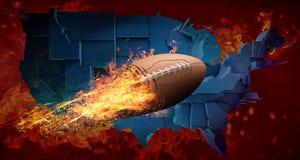 Concept de football américain Photo libre de droits