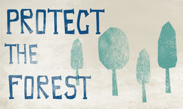 Concept de Forest Protection Planting Trees Environment Photo stock