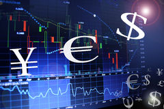 Concept de forex Photos stock