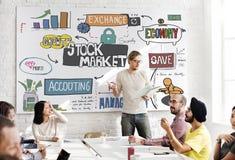 Concept de forex d'économie d'échange de finances de marché boursier Images stock