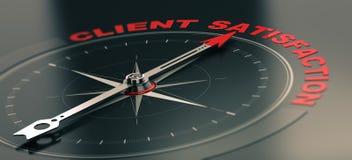 Concept de formation d'affaires, service client objectif Satisfacti illustration libre de droits