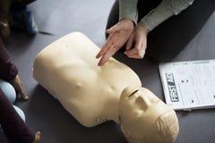 Concept de formation de premiers secours de CPR photo libre de droits