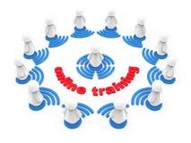 Concept de formation en ligne d'Internet Image libre de droits