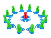 Concept de formation en ligne d'Internet. Illustration Stock