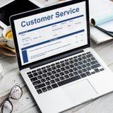 Concept de formulaire de demande de données de performance de service client photo stock