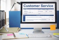 Concept de formulaire de demande de données de performance de service client image stock