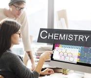 Concept de formule d'expérience de la Science de chimie images stock