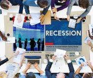 Concept de frustration de dépression d'accident de crise d'échouer de récession Image stock