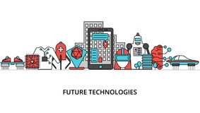 Concept de futures technologies illustration libre de droits