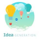 Concept de génération d'idée Illustration de vecteur du processus créatif illustration libre de droits