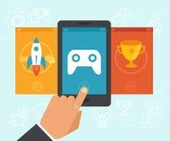 Concept de gamification de vecteur Photographie stock libre de droits