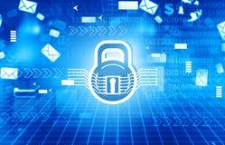 Concept de garantie de Cyber illustration de vecteur