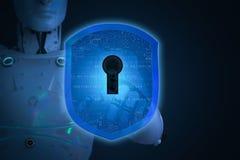 Concept de garantie de Cyber photos stock