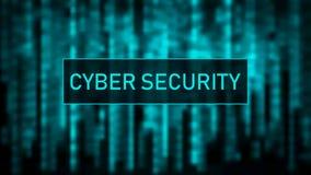 Concept de garantie de Cyber Matrice bleue de fond de Digital Code machine binaire Concept de pirate informatique Illustration de illustration stock