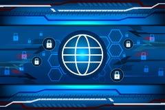 Concept de garantie de Cyber Photographie stock libre de droits