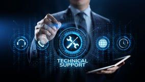 Concept de garantie de la qualité de garantie de service à la clientèle de support technique images libres de droits