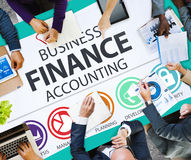 Concept de gestion d'analyse financière de comptabilité d'entreprise images libres de droits