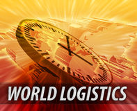Concept de gestion de logistique internationale Image libre de droits