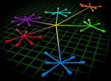 Concept de gestion de réseau illustration libre de droits