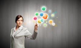 Concept de gestion de réseau Photo libre de droits