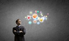 Concept de gestion de réseau Photo stock