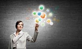 Concept de gestion de réseau Images libres de droits