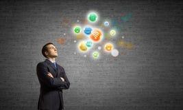 Concept de gestion de réseau Image stock