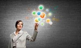 Concept de gestion de réseau Photos stock