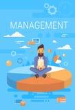 Concept de gestion de With Tablet Computer de directeur d'homme d'affaires Photo stock