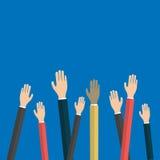 Concept de gestion de travail d'équipe Icônes plates Télécommunication mondiale et expérience professionnelle Affaires, vecteur Images stock