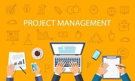 Concept de gestion des projets Photo libre de droits