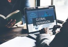 Concept de gestion du marketing d'affaires globales d'économie Image stock