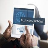 Concept de gestion du marketing d'affaires globales d'économie Photos stock