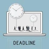 Concept de gestion du temps de silhouette de personnes illustration de vecteur