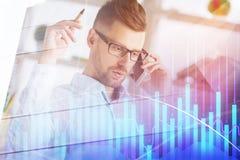 Concept de gestion et d'investissement images stock