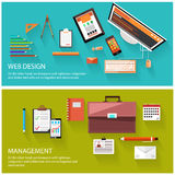 Concept de gestion et de web design illustration stock