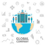 Concept de Global Company Images stock