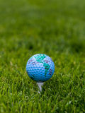 Concept de golf du monde Photographie stock libre de droits