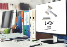 Concept de Governance Legal Judge d'avocat de loi image libre de droits