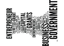 Concept de Grant Text Background Word Cloud d'entrepreneur de gouvernement Photos libres de droits