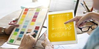Concept de graphique d'ensemble d'Art Create Draft Imagine Layout photographie stock