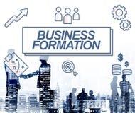 Concept de graphique d'icônes de cible de réseau de formation d'affaires Photographie stock